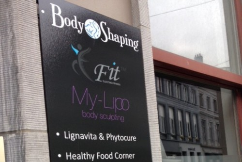 Inside & Outside facing BodyShaping Gent - Publiciteit