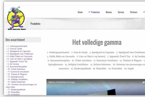 MIE: nieuwe website in WordPress